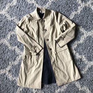 [J. Crew] Khaki Knee Length Trench Coat